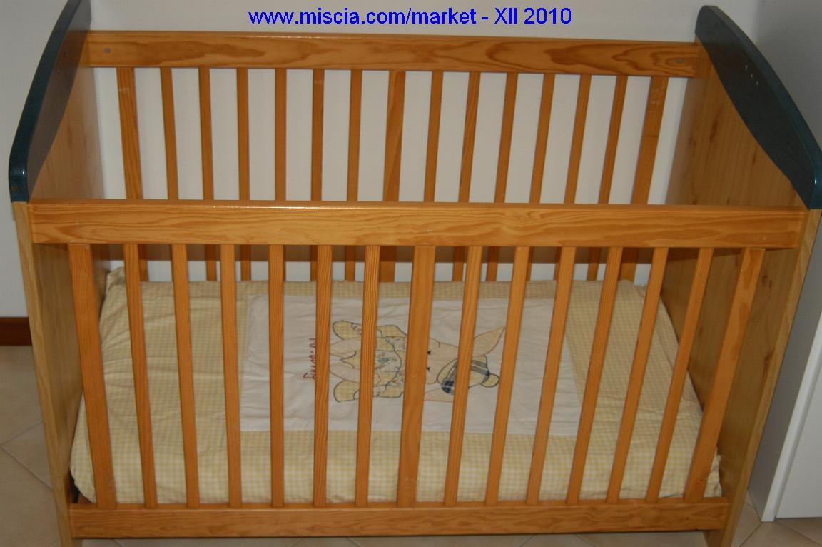 Miscia market mercatino lettino convertibile in letto for Misure materasso lettino